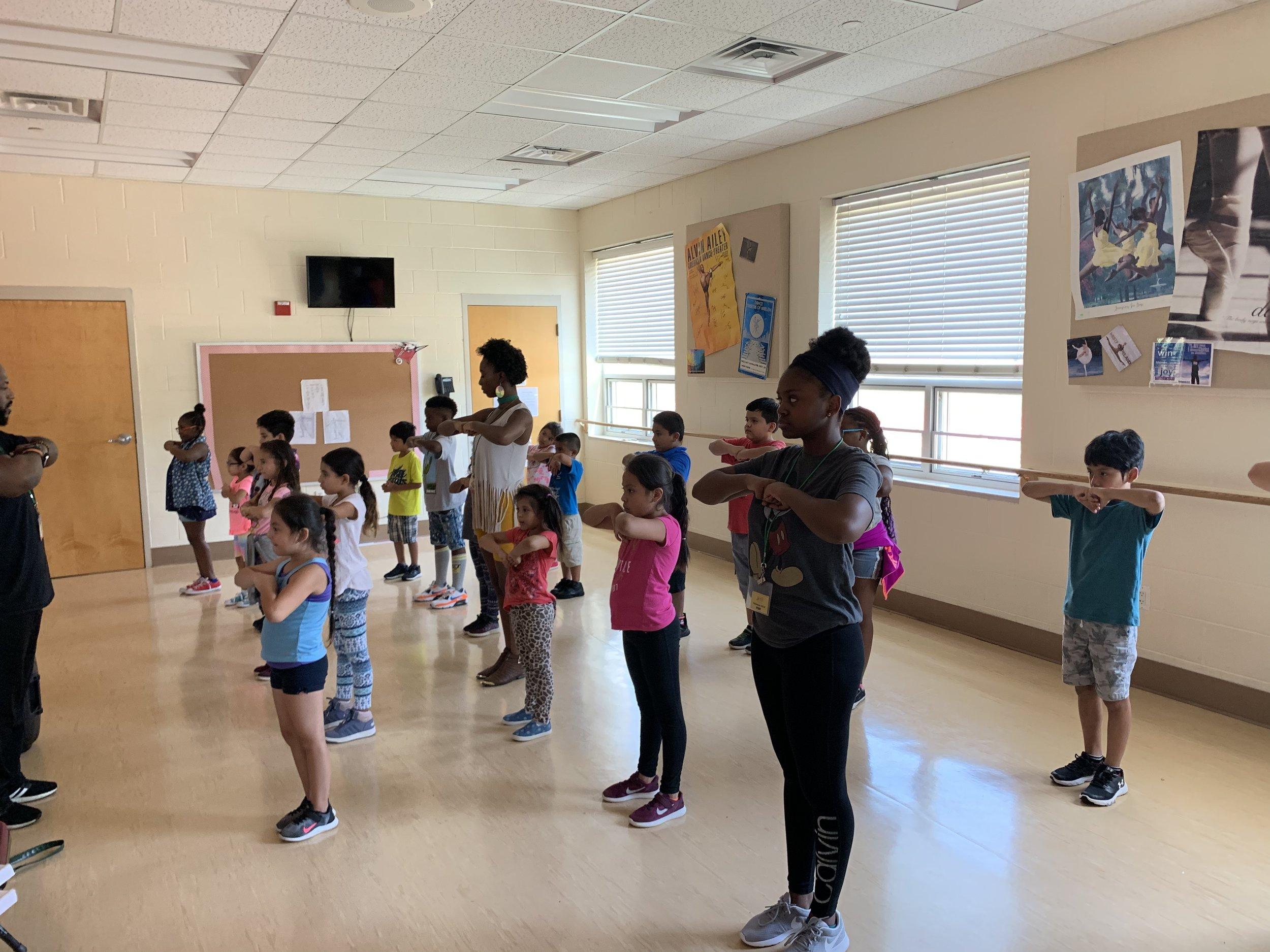 Summer Arts learning at Seton