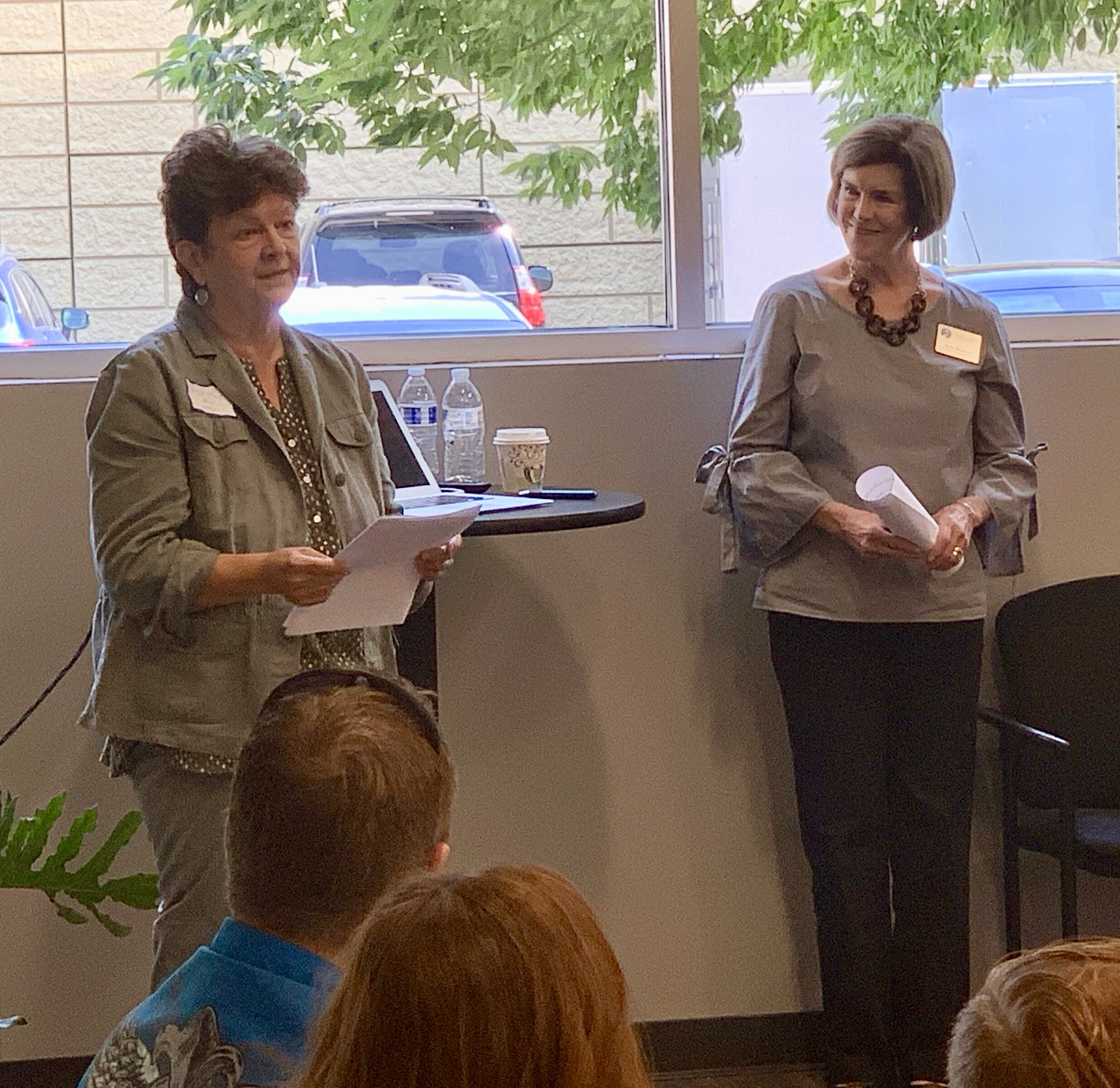 Kathy Price and Mary Bartzen tell church leaders about the ins and outs of school partnerships.