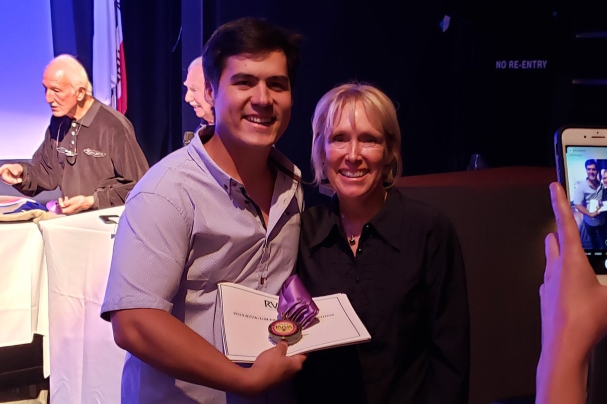 Vineyard Grant James operations manager Grant James Choy and owner and winemaker Susanne Sapier received multiple awards during the competition.  Photo Courtesy of Ramona Valley Vineyard Association