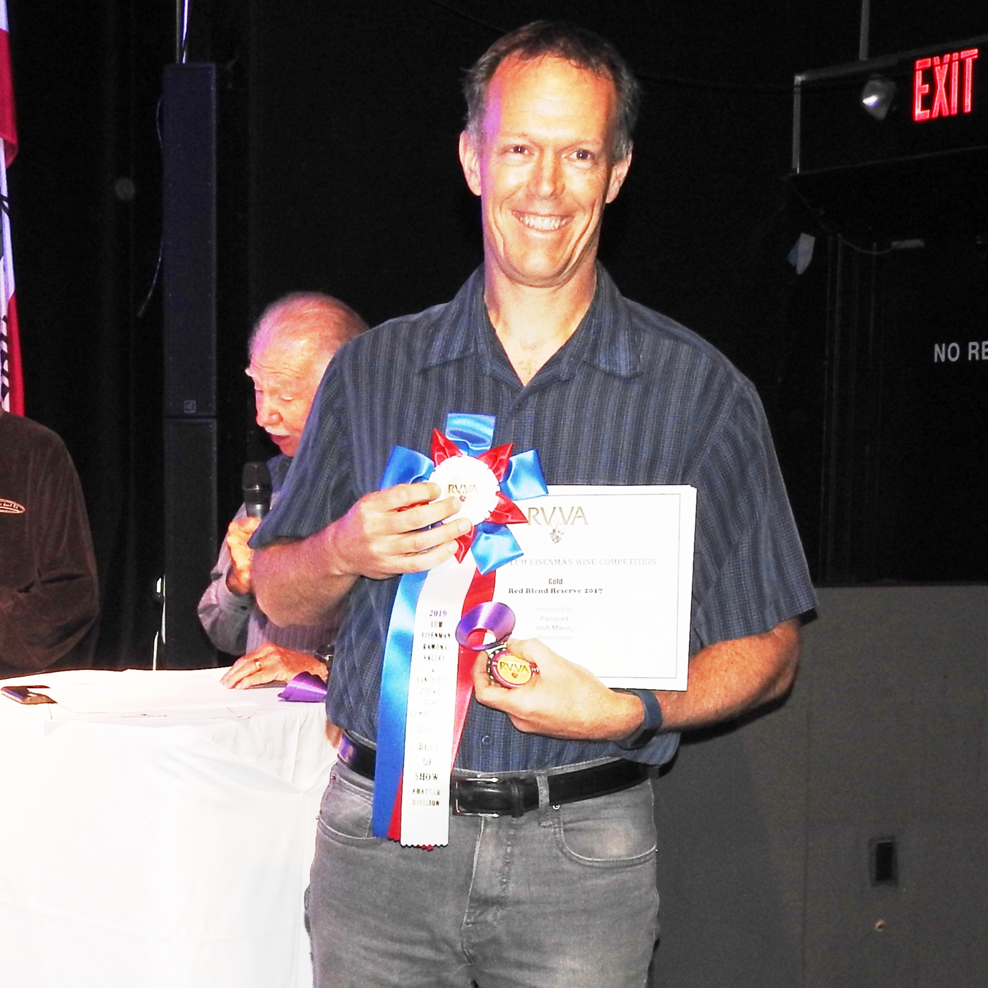 Josh Mann won best of show in the amateur winemaker category.   Photo Courtesy of Ramona Valley Vineyard Association