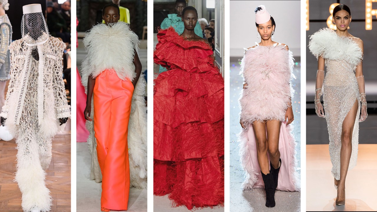 Left to right: Balmain, Valentino, Valentino, Giambattista Valli, Ralph & Russo
