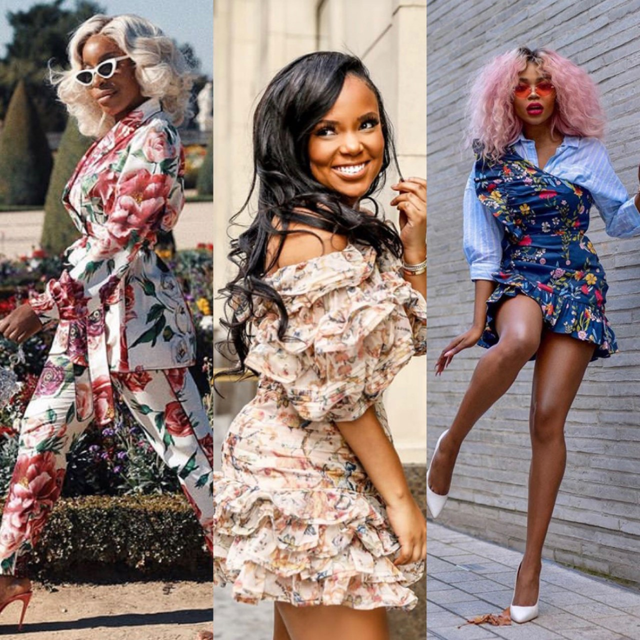 Left to right:  @jackieaina ,  @nicholelynel ,  @romeosfashionfix