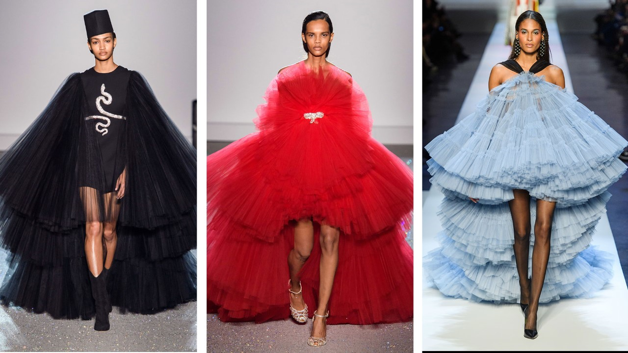 Left to right: Giambattista Valli, Giambattista Valli, Jean Paul Gaultier