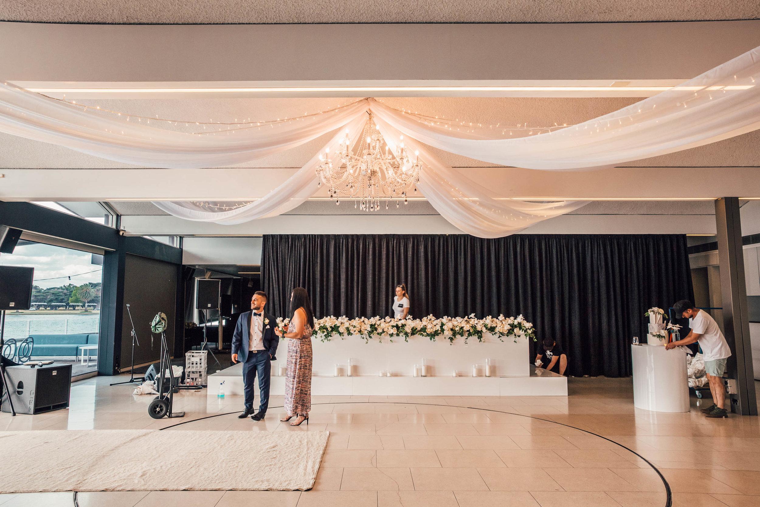 chandelier hire wedding