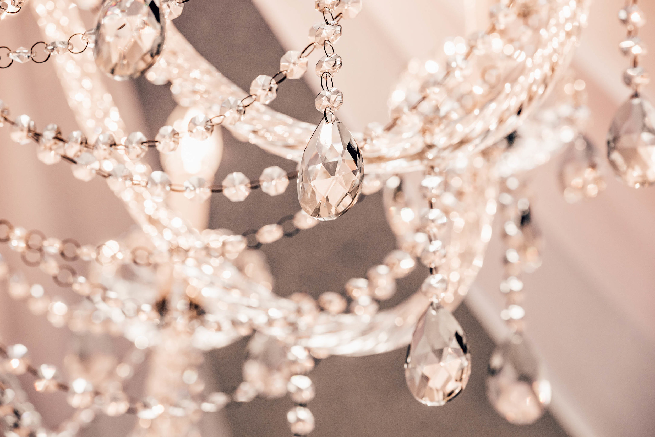 It's a chandelier that just oozes glamour and timeless bridal style. -