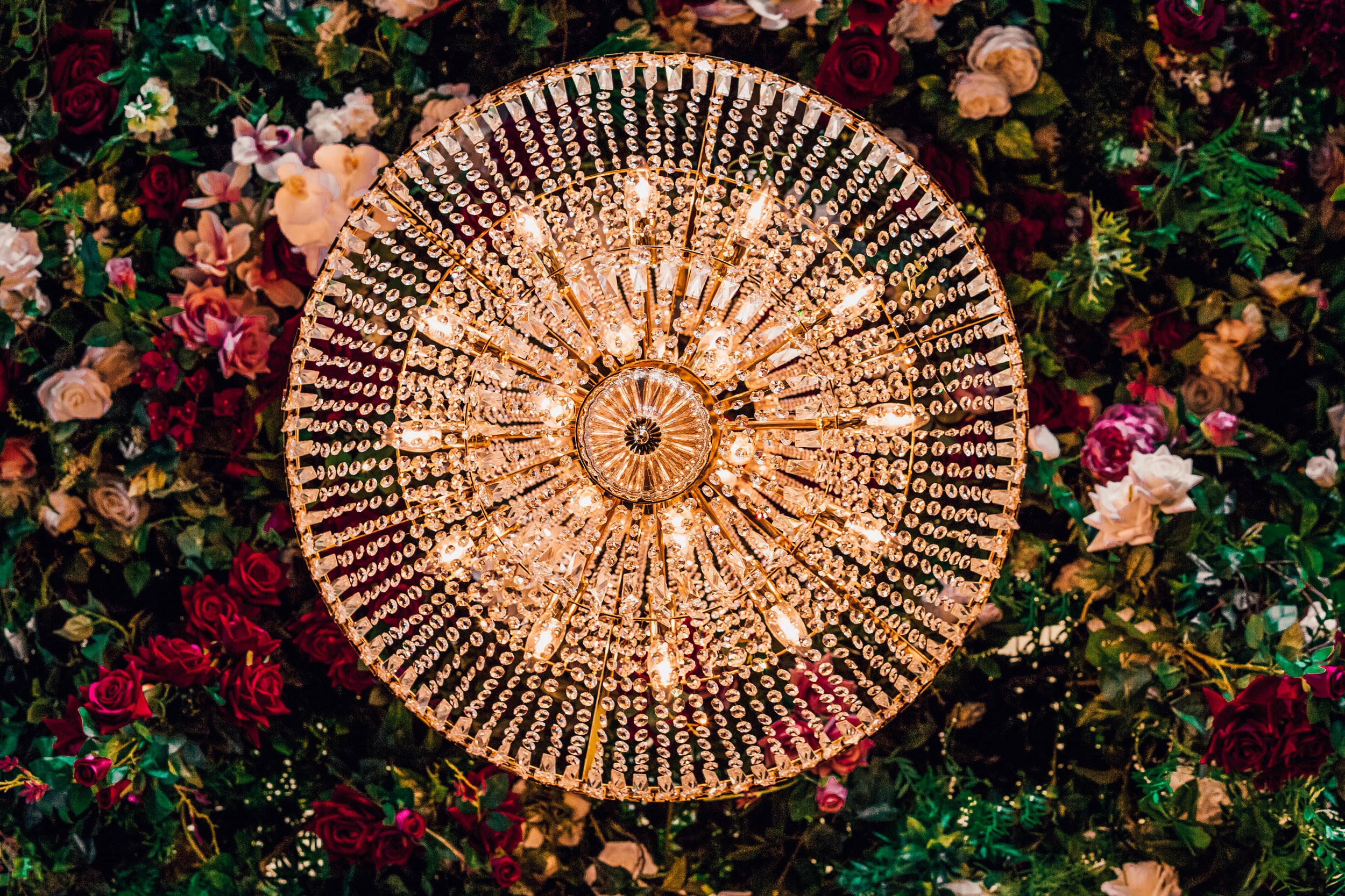 Your overall theme and venue will dictate the style of chandelier that will most likely suit your wedding style. -