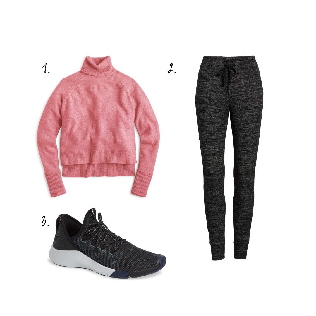 Outfit Details - 1. Turtleneck2. Leggings3. Sneakers