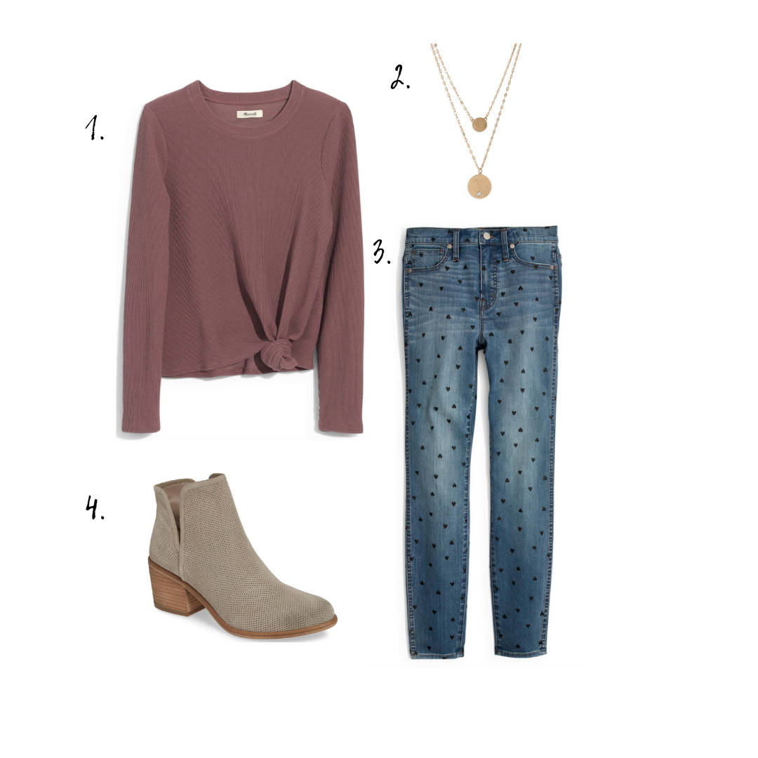 Outift details - 1. Tops2. Necklace3. Jeans4. Booties