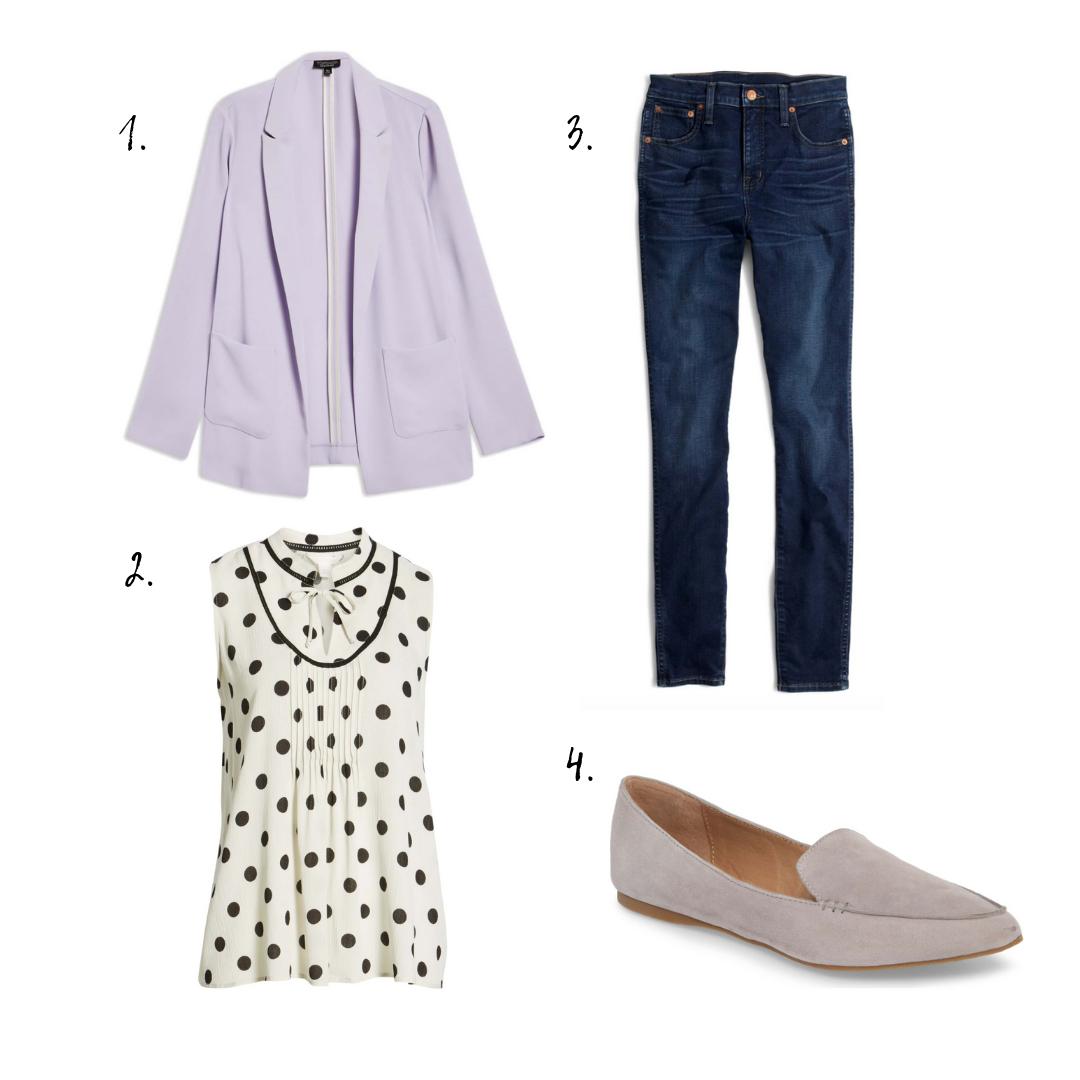 oUTFIT DETAILS - 1. Blazer2. Top3. Jeans4. Flats