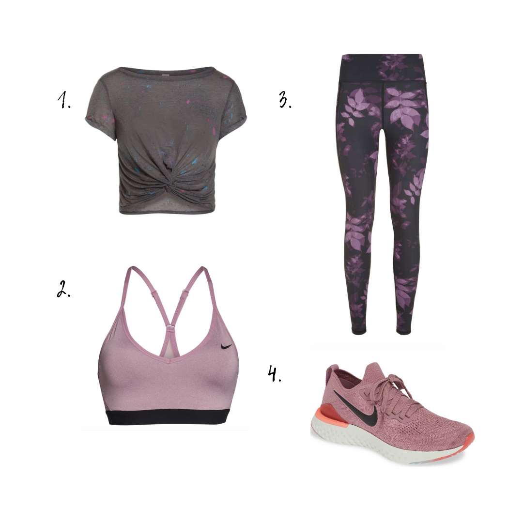 Outfit Details - 1. Top2. Sports Bra3. Yoga Pants4. Sneakers