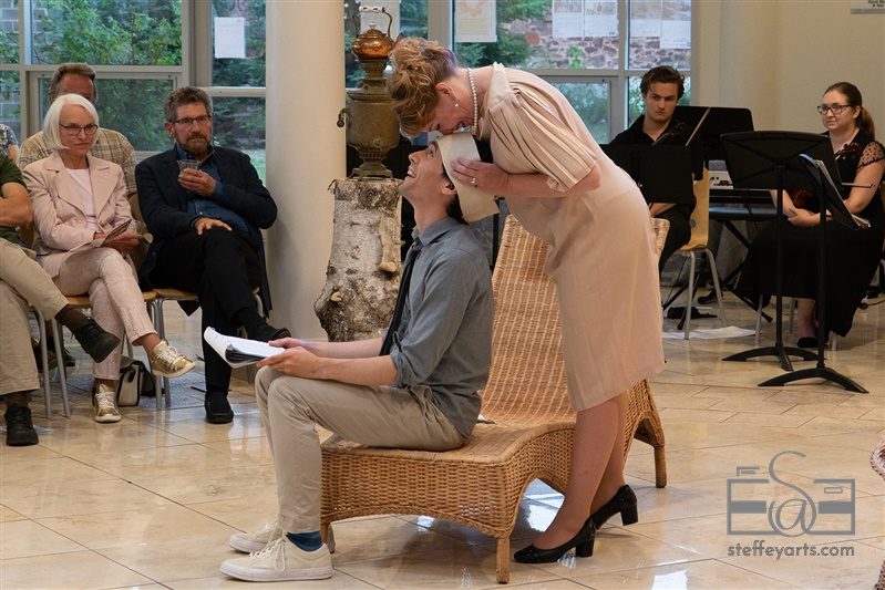 "Alastar Dimitrie as Treplev and Jessica ""Red"" Bays as Irina. Photo by Nick Steffey."