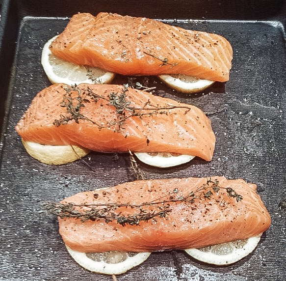 Wild caught salmon, definitely one of my favorite meals