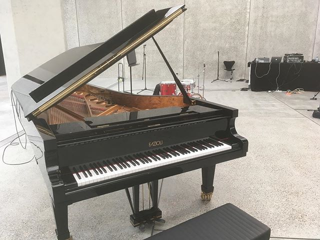 Very lucky to have the opportunity to record some of our compositions on this incredible @faziolipianos_official grand piano.