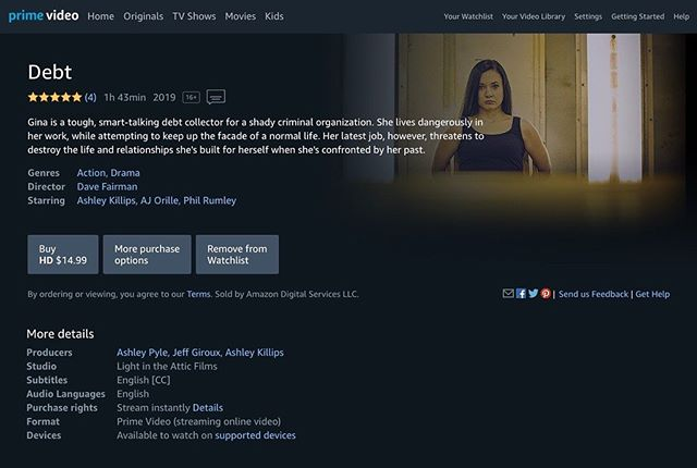 Once that college football game you're watching is over, why not check out our movie on Amazon?  If you enjoy it, we'd appreciate if you'd give it a 5 star review! We love hearing the feedback, and the support really helps us!  #lightintheatticfilms #filmmaking #film #movie #debtmovie #bts #behindthescenes #indiefilm #IndieFilmmaker #FilmmakersLife #IndependentFilm #MovieMaking #supportindiefilm #firstfeature #action #actionmovie #moviemaking #crimedrama #adobe #actor #actress #amazon