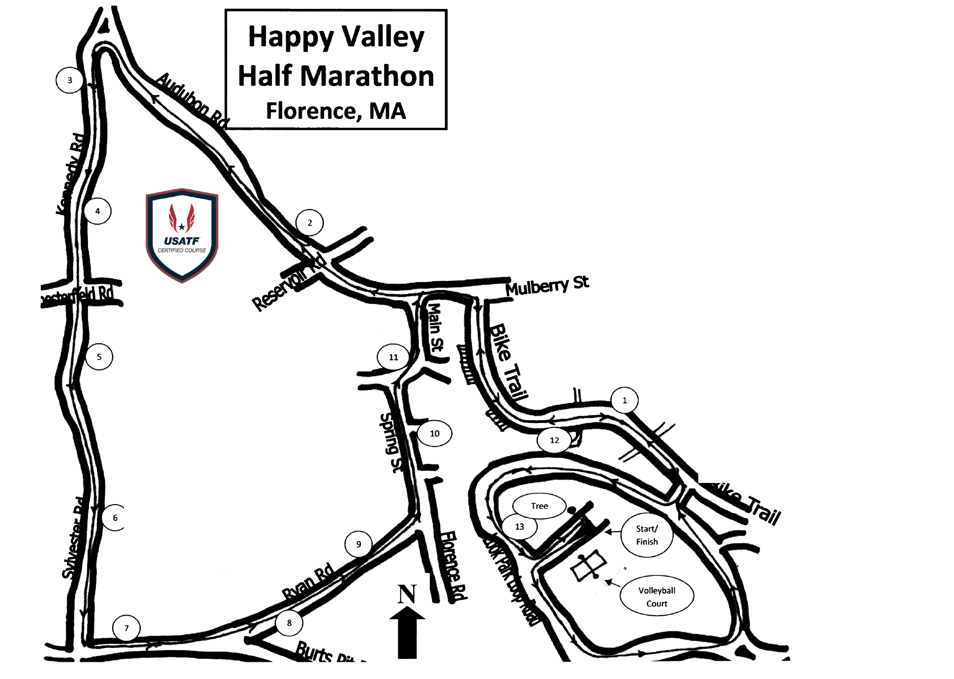 A more detailed course map can be found  here