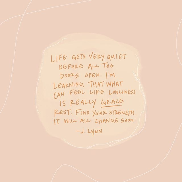 Really living by this as of late. Transition periods can feel so uncomfortable and confusing, but you just have to calm down and keep moving because God's got this:) ✨