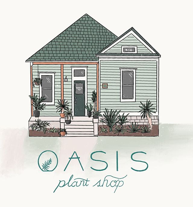 One of my favorite things to do is draw buildings or homes, so I was so happy to get a chance to draw this gem of a plant shop in Bishop Arts, full of the best plants and run by the sweetest girls 🌿 Grab a postcard and a plant next time you go in!
