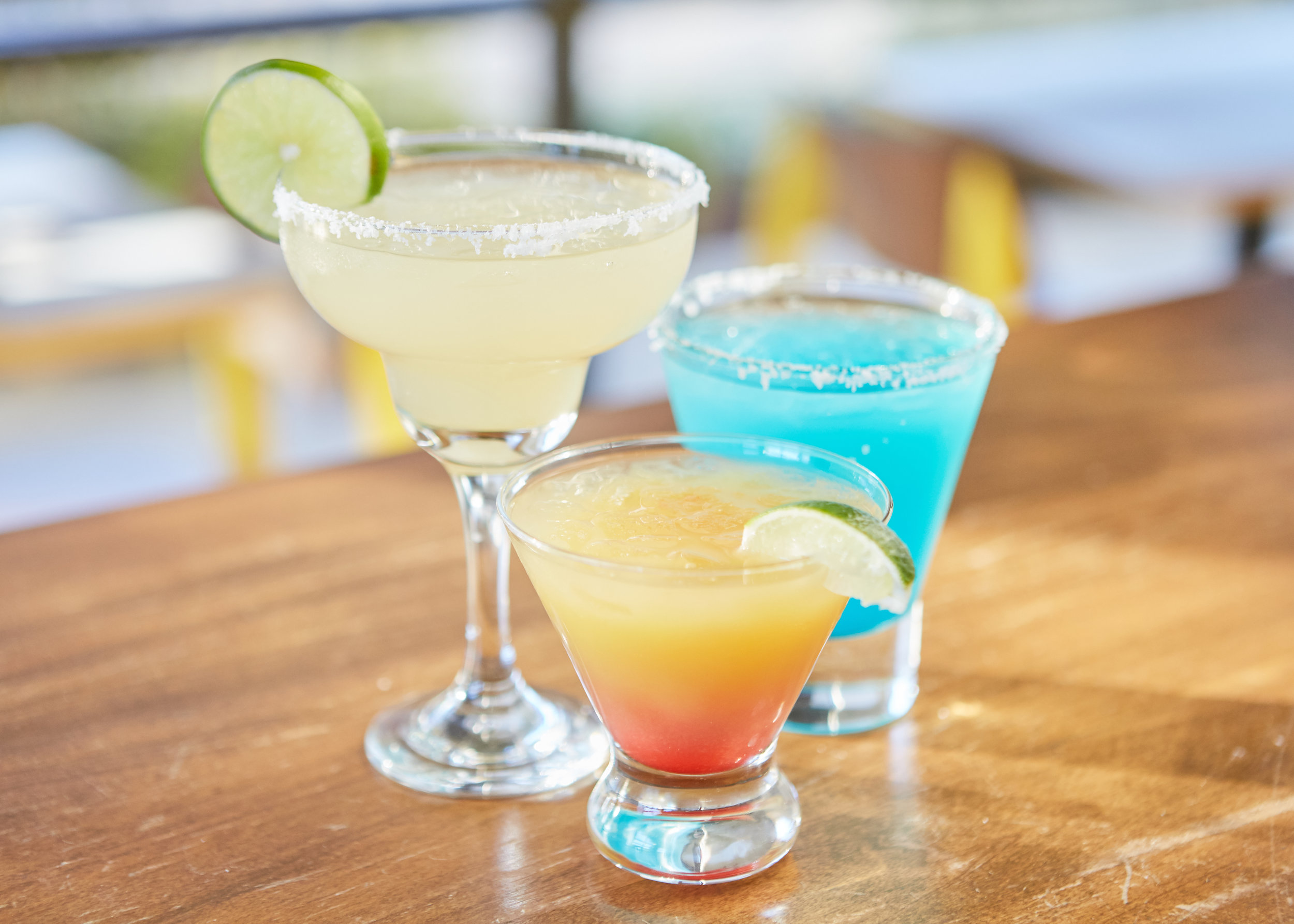 DRINKS - We offer alcoholic beverages including mixed drinks and craft beers, plus non-alcoholic drinks like iced tea, lemonade, and craft soft drinksSelection varies by location