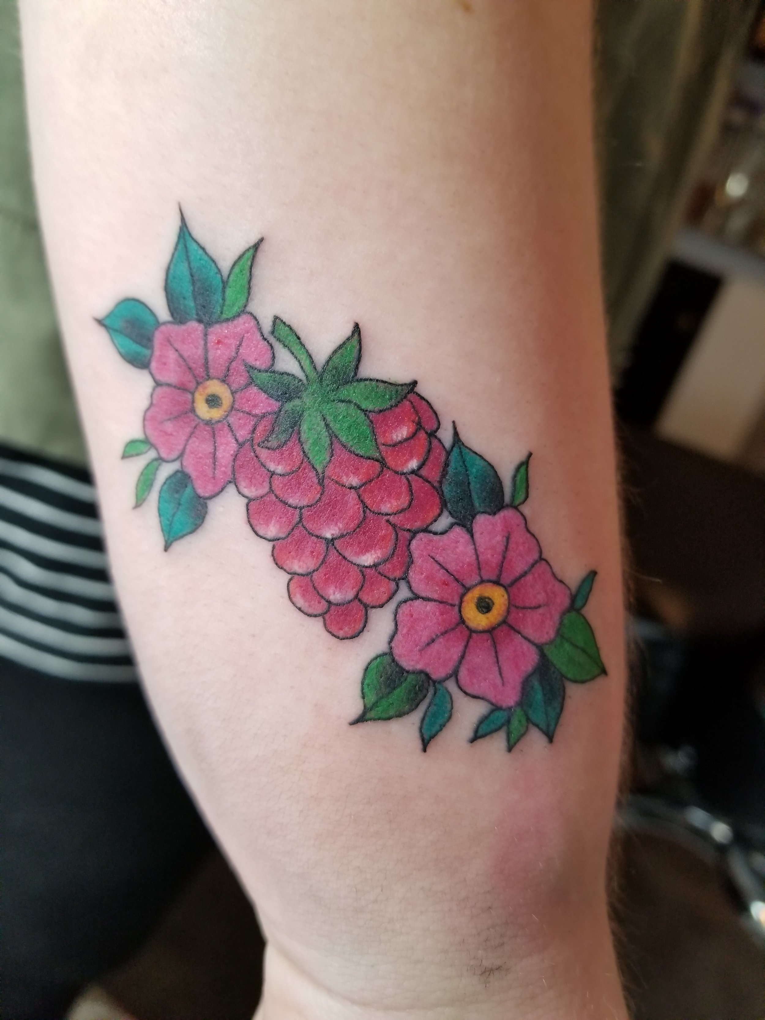 Raspberry and flowers
