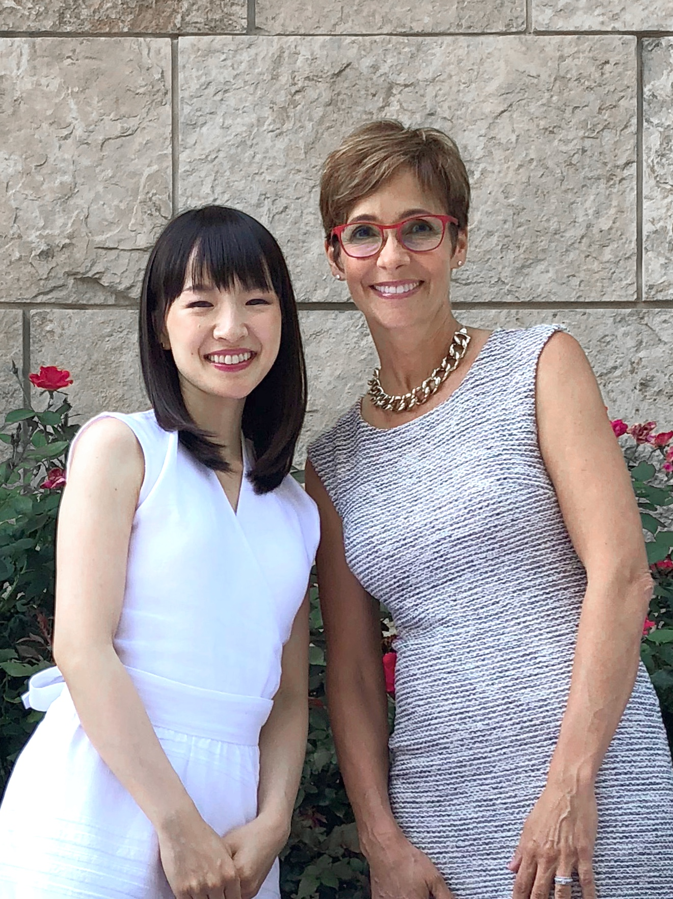Marie Kondo and I at the KonMari Consultant Retreat, June 2018