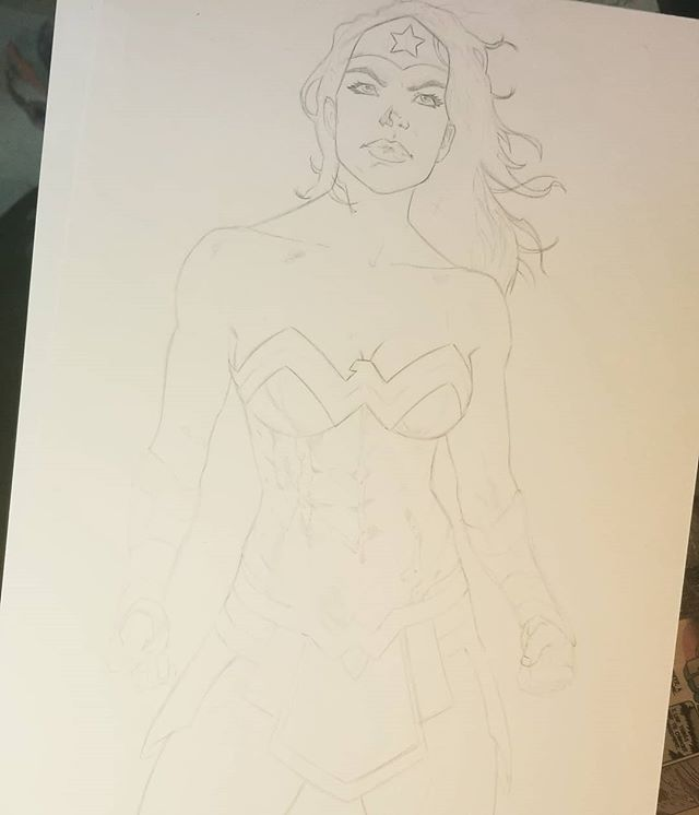 #wonderwoman in progress . . . . . #dccomics #comics #art #comicartist #illustration #drawing #draw #pencildrawings #comicart #sketch #comic #artist #draw #artwork #drawings #comicbooks #pencil #pencildrawing #comicbook #artistsoninstagram #comicartwork #strongwomen