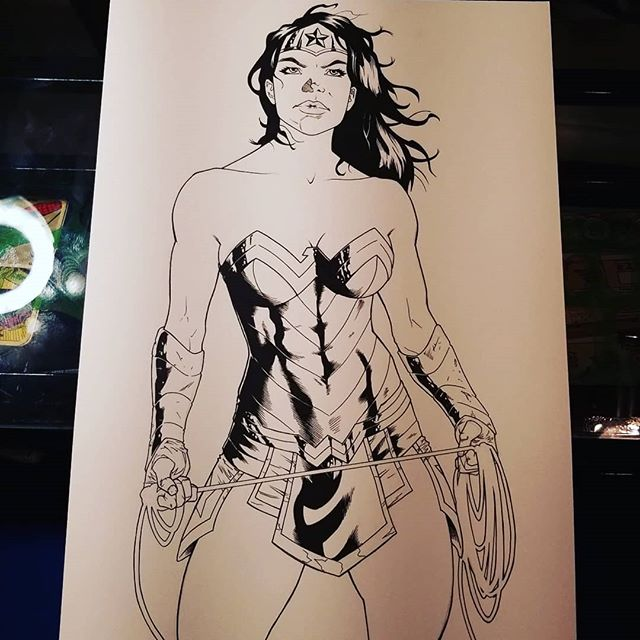 Inks are done! . . . . . #wonderwoman #dccomics #justiceleague #strongwoman #comics #art #comicartist #illustration #drawing #draw #pencildrawings #comicart #sketch #comic #artist #sketchbook #instaart #draw #artwork #drawings #graphicdesign #instaartist #comicbooks #ink #pencil #pencildrawing #comicbook #artistsoninstagram #comicartwork