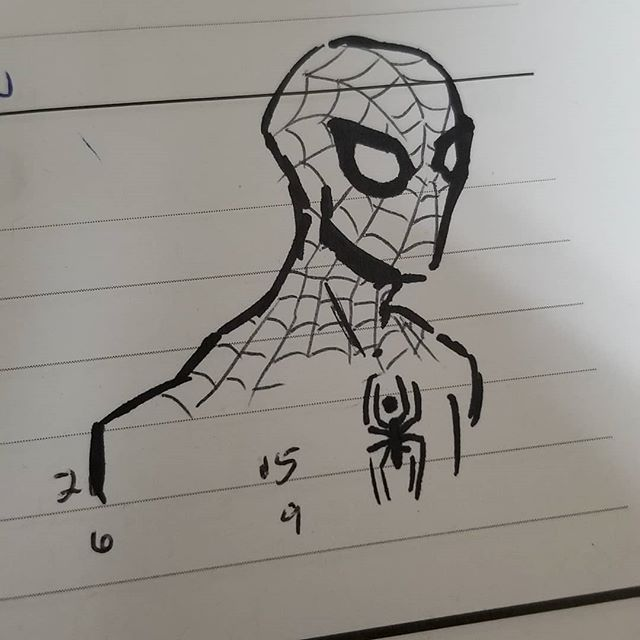 Been gone a while. Gotta make my way back. So here's another quick work calendar #sketch  #spiderman