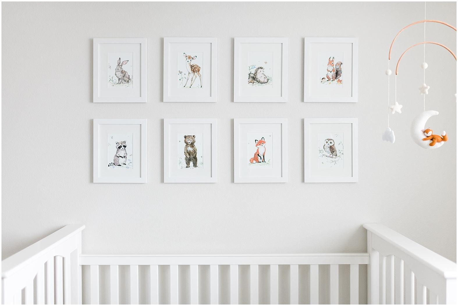 Woodland animals nursery, gender neutral nursery, nursery design, nursery style, baby boy nursery, simple nursery, light and airy nursery, woodland creatures nursery, woodland animals