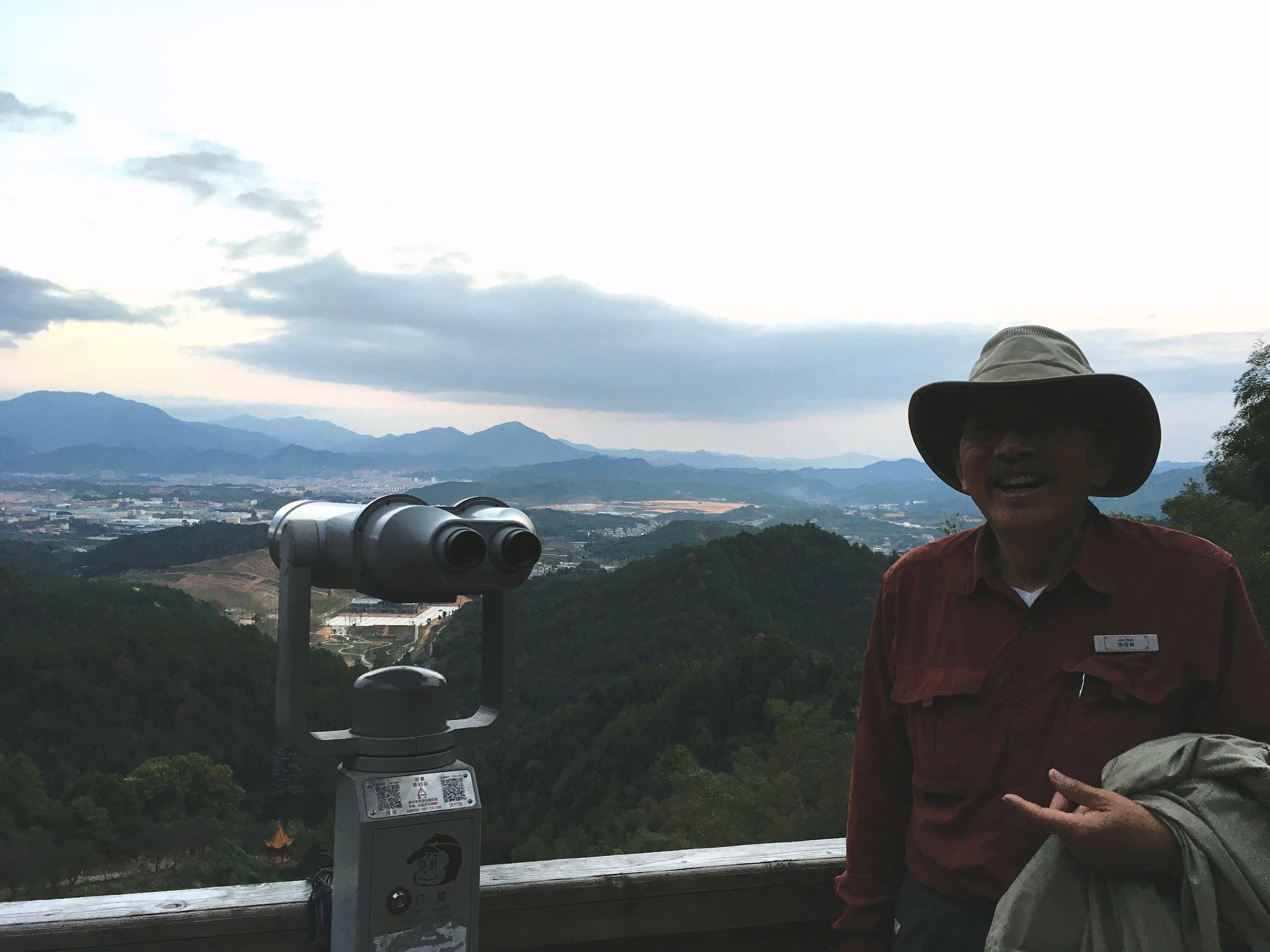 On the observation deck in Jiangxi Province