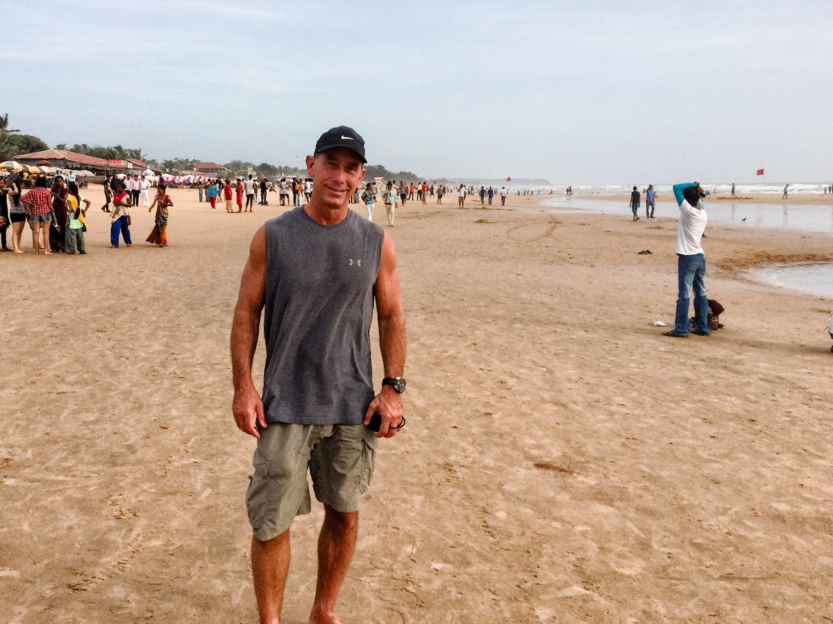 That's me on the beach in Goa, India, of course always with camera in hand
