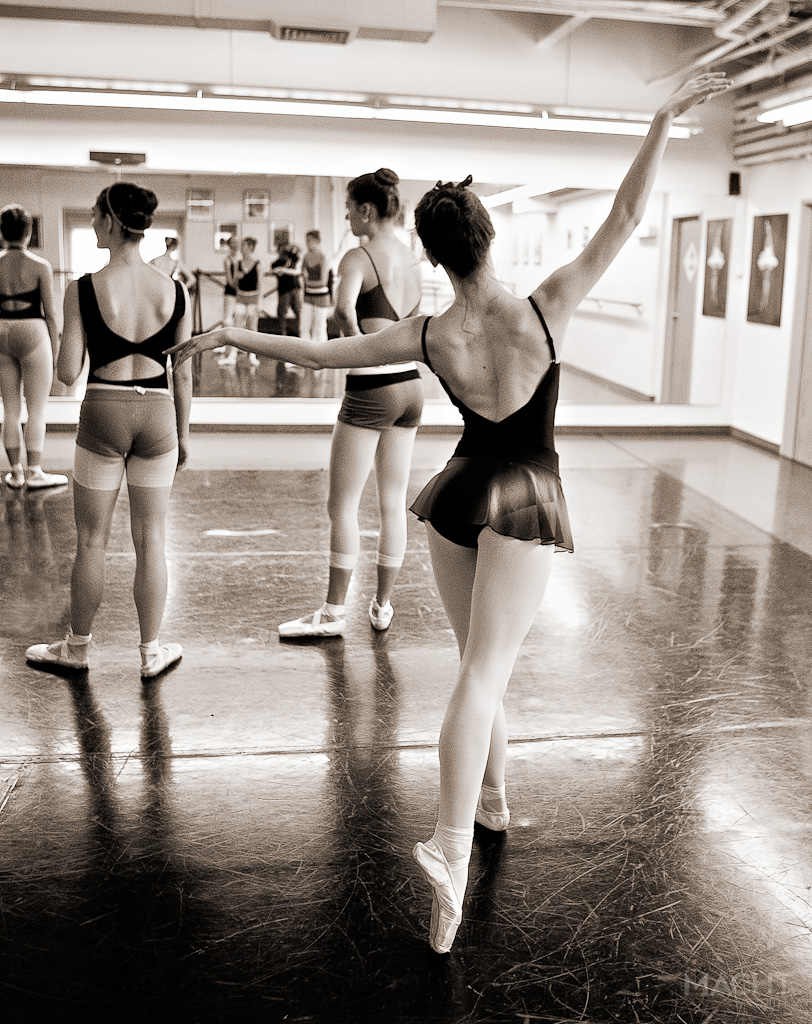 My mind is freed when I'm in the dancer's space as their focus is so intense as to demand my complete attention… there's nothing quite like it.