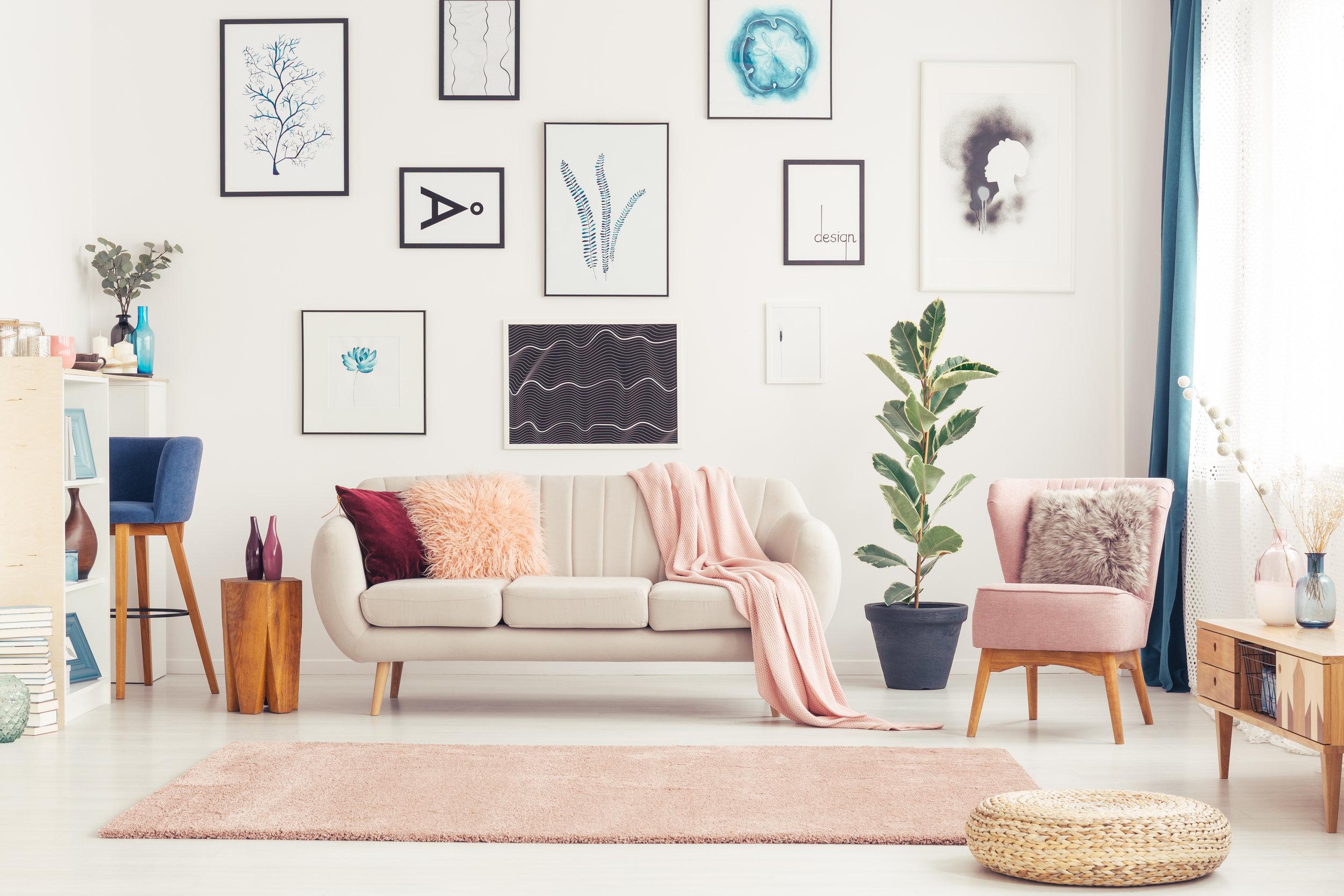 art wall, living room