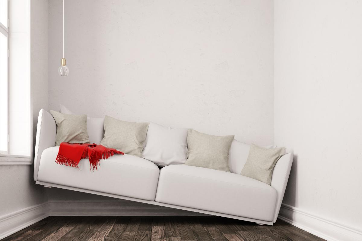 big sofa small space