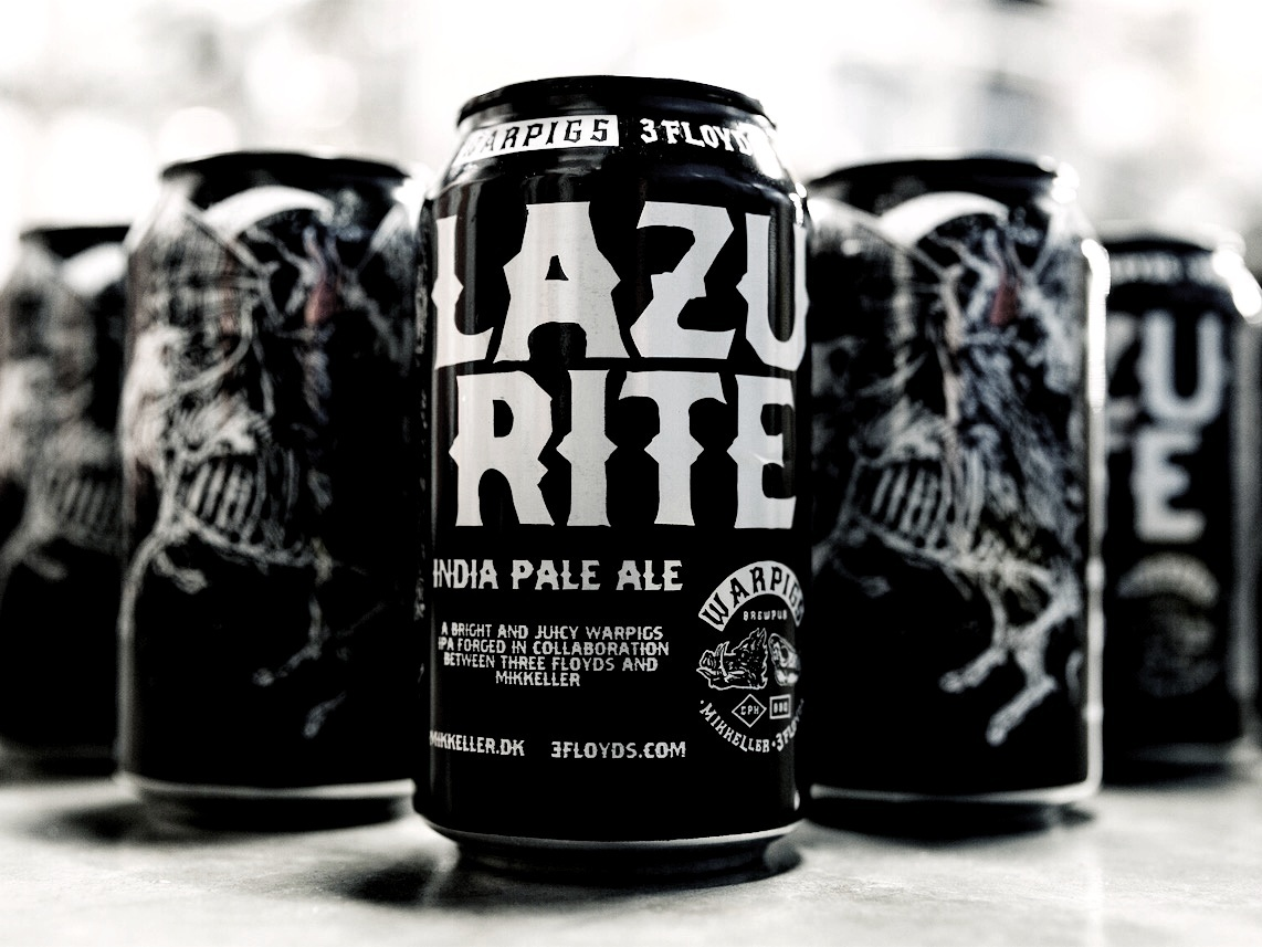 Lazurite - A BRIGHT + JUICY AMERICAN IPA WITH JUST ENOUGH MALT TO BALANCE THE PROFOUND BITTERNESSABV 7.5% IBU 70