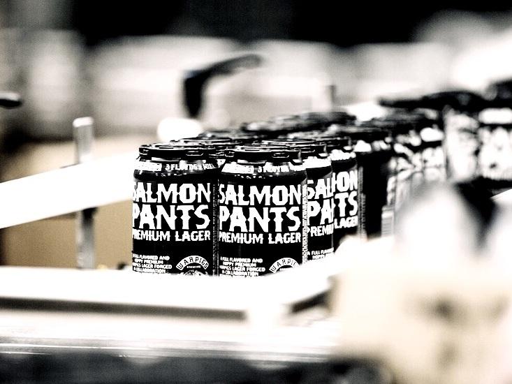 Salmon Pants - A FULL-FLAVORED + HOPPY PREMIUM LAGERABV 5.3% IBU 60