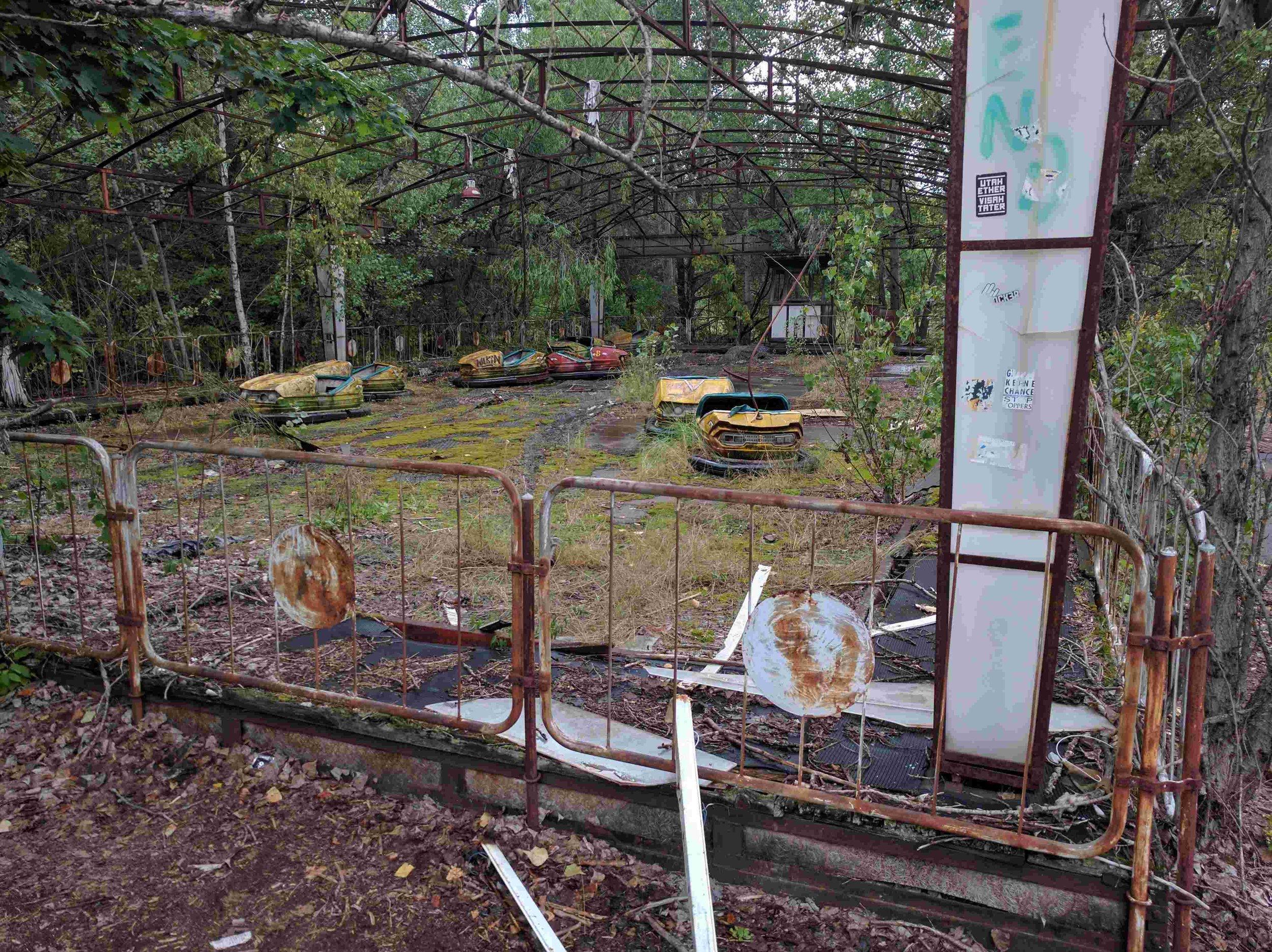 - Pripyat amusement park, Chernobyl.