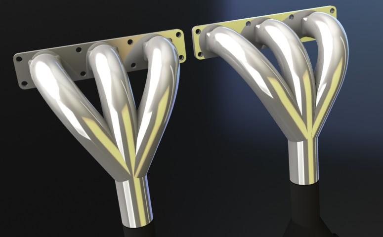 Computerised image of Classicfabs F.I.A. E-Type manifold.