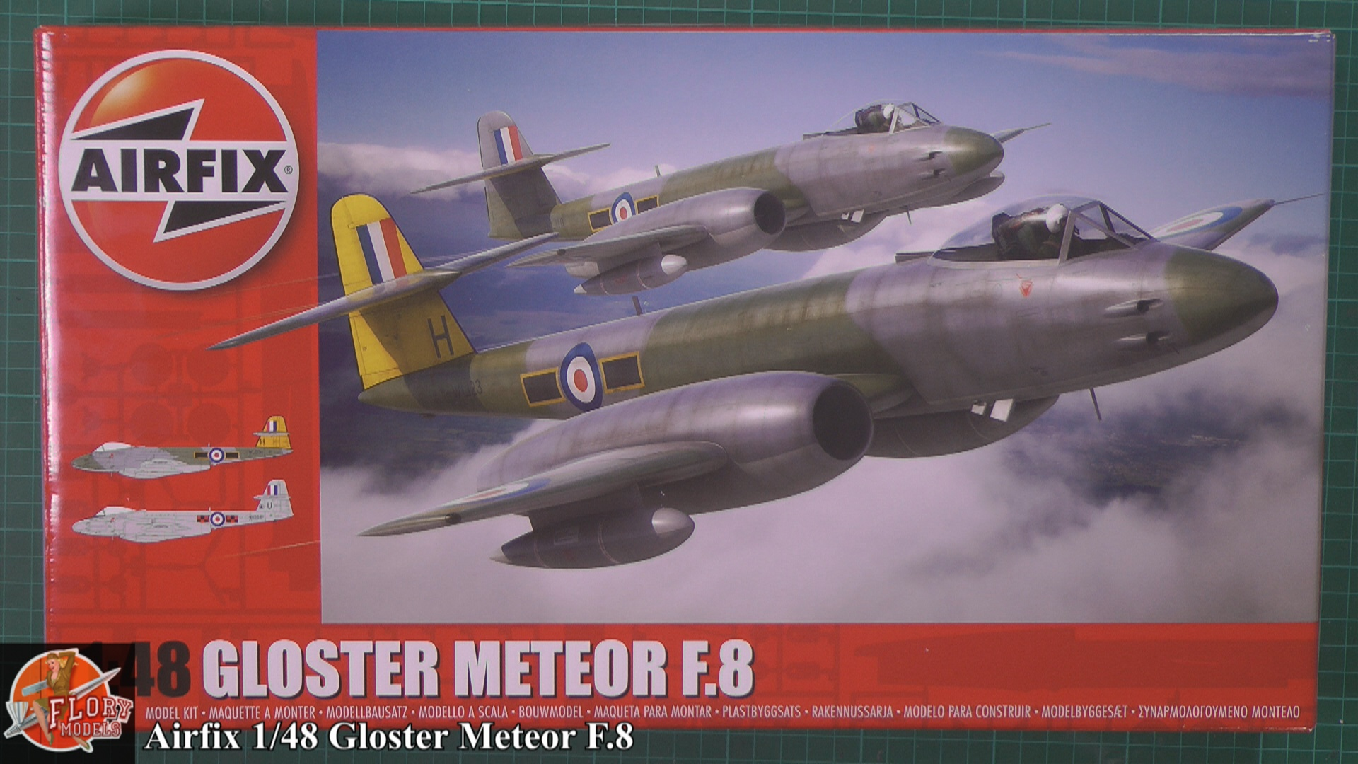 Gloster Meteor F.8 Scale: 1/48   Manufacture: Airfix   Parts used: Out of The Box   Main paints used: Hobby Color, MRP