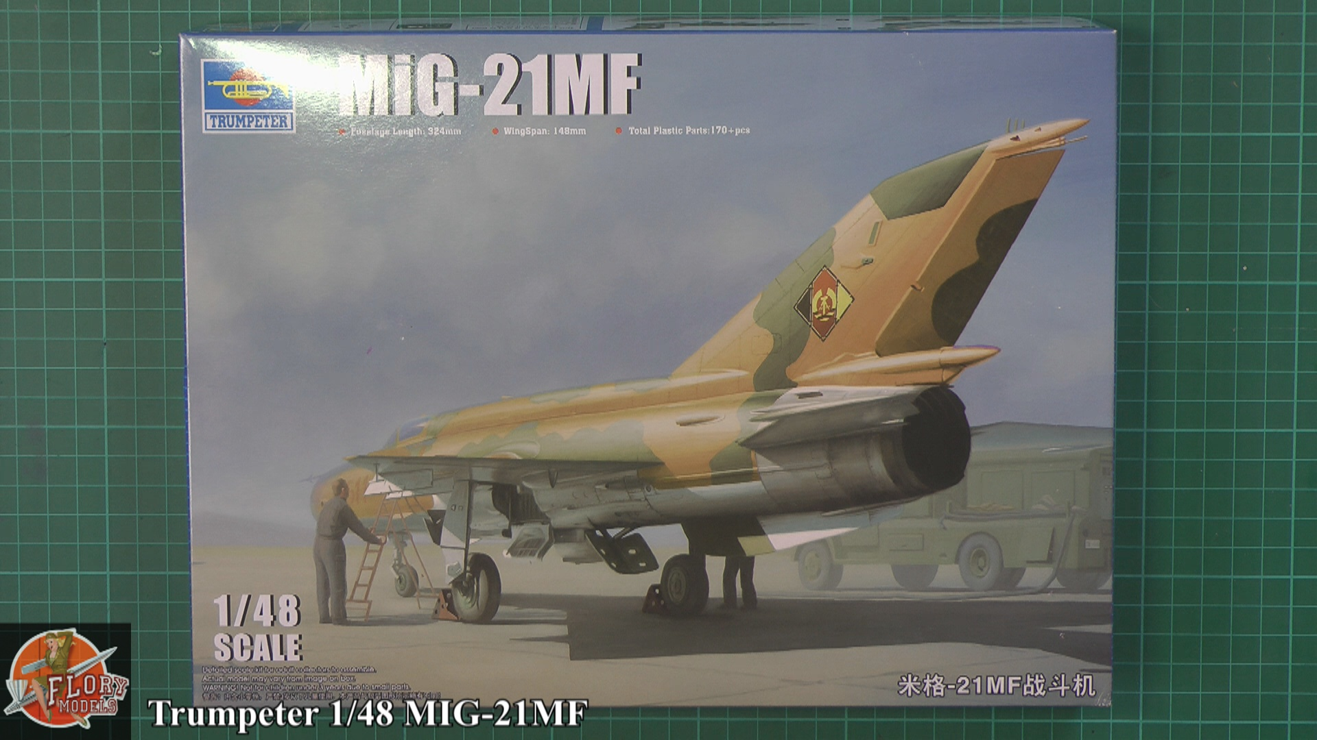 MIG-21MF Scale: 1/48   Manufacture: Trumpeter   Parts used: Out Of the Box In flight display   Main paints used: Vellejo