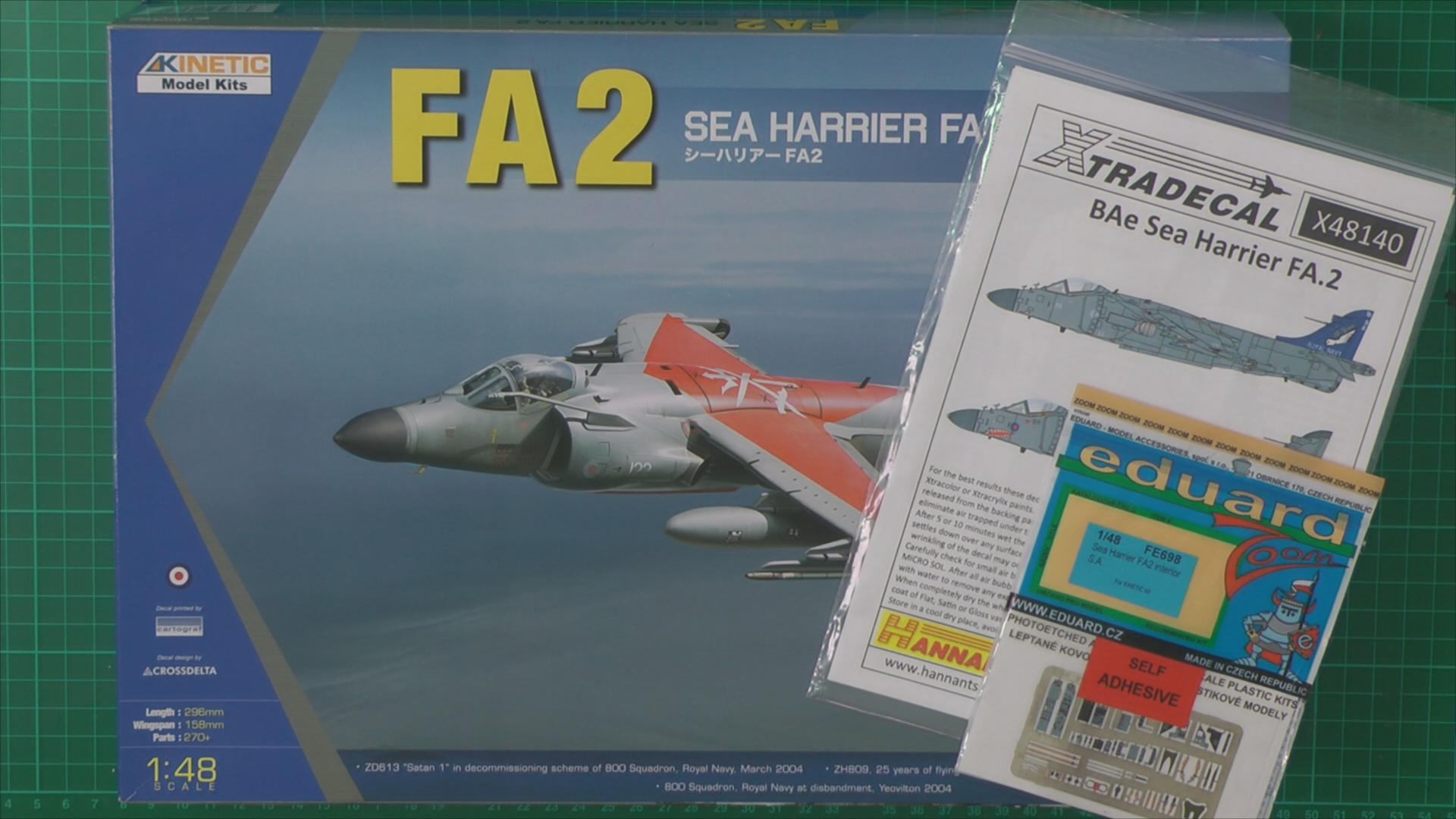 Sea Harrier FA2 Scale: 1/48   Manufacture: Kinetic   Parts used: Eduard Colour Photo Etched copit set   Main paints used: Tamiya and Gunze