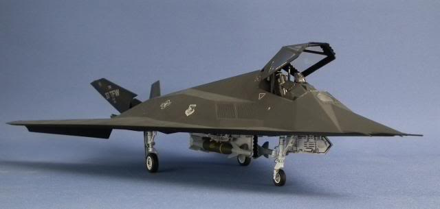 F-117A Stealth Fighter Scale: 1/48   Manufacture: Tamiya   Parts used: Eduards Color photo etched set   Main paints used: Tamiya and Vallejo
