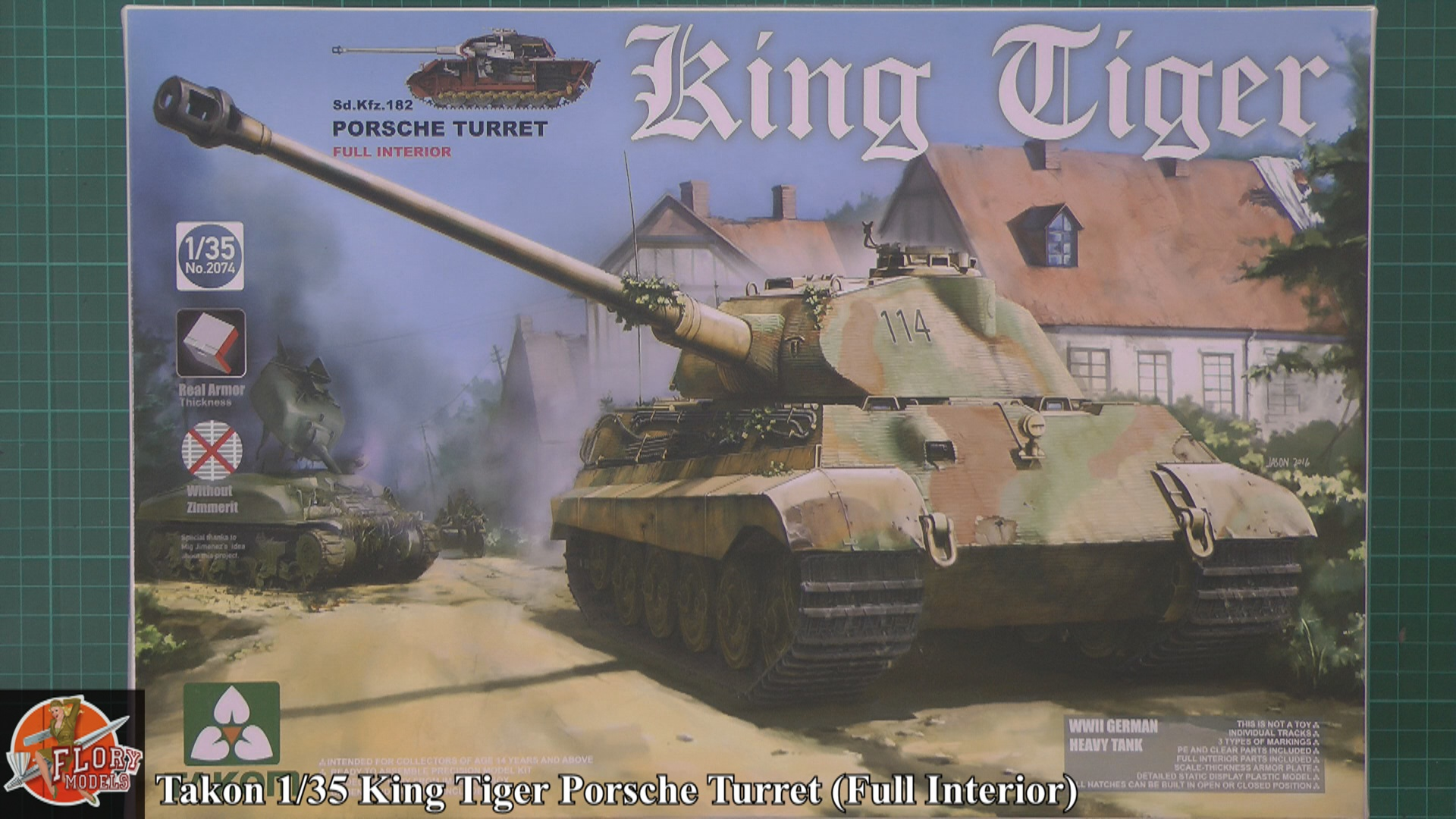 King Tiger Scale: 1/35   Manufacture: Takom   Parts used: Out of The Box   Main paints used: Vallejo, Tamiya