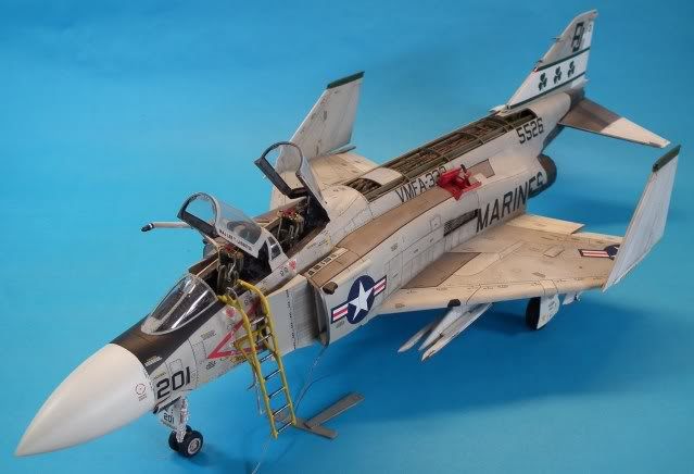 F-4J Phantom  Scale: 1/32 scale Manufacturer: Tamiya. Parts used: Aires cockpit and Nozzles with D-Mold Intakes and lots of scratch building Main Paints used: Tamiya, Gunze