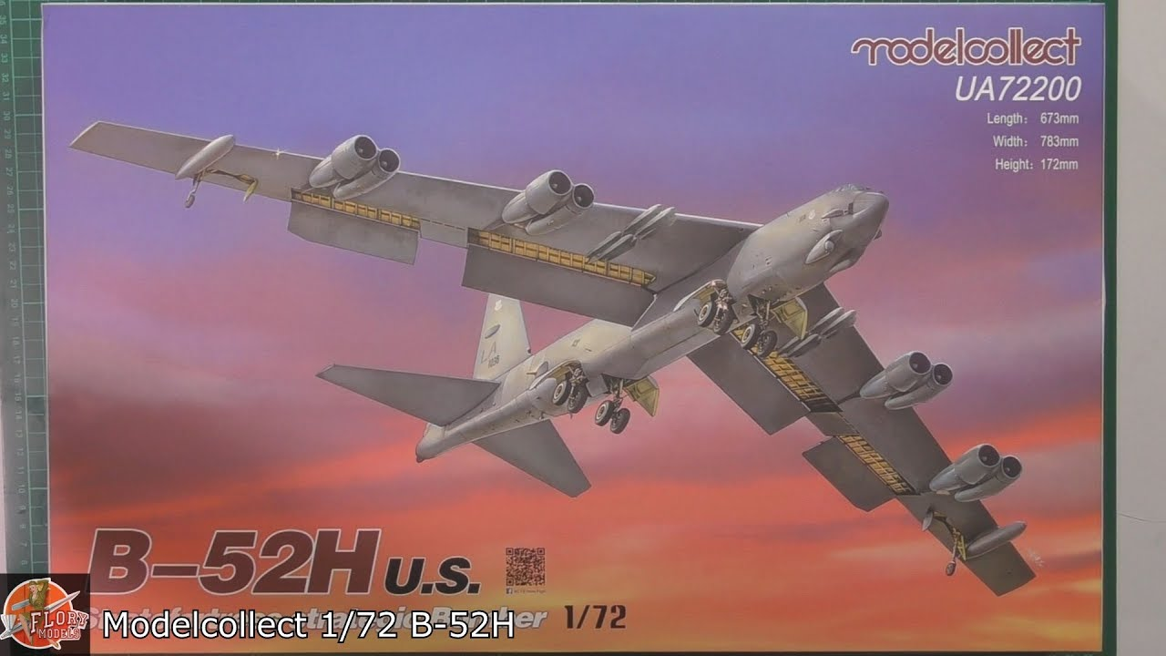 B-52H BUFF Scale: 1/72   Manufacturer: Model Collect   Parts used: Out of the box build    Main paints used:Tamiya and Hattaka