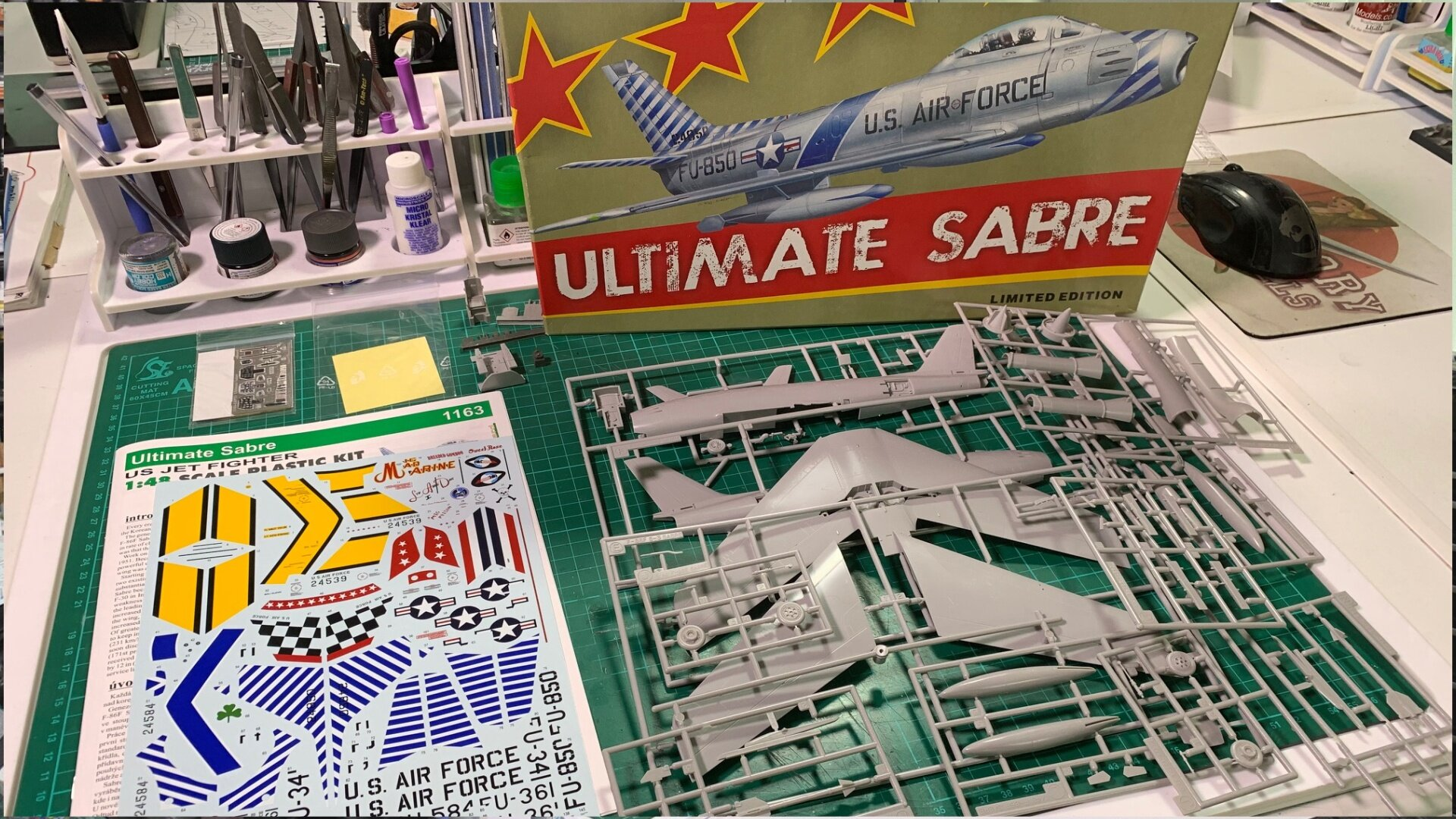 F-86 Sabre Scale: 1/48   Manufacturer: Eduard/ Hasegawa   Parts used: Out Of The Box   Main paints used: Tamiya and Xtream Metals