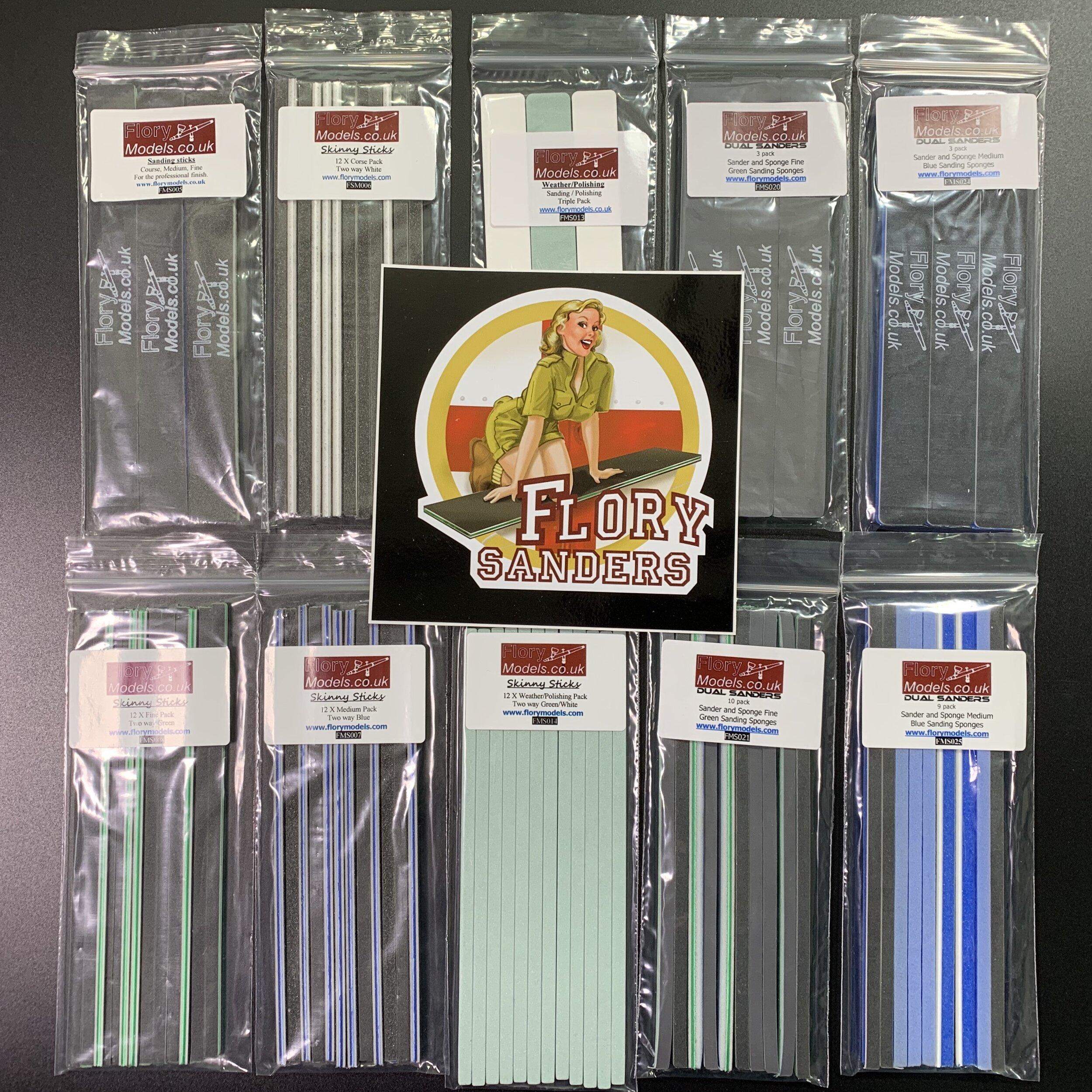 10 Pack of Flory Models sanding sticks  £43.92