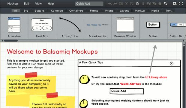 balsamiq screenshot 1