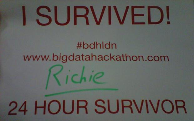 I survived big data hackathon - richie