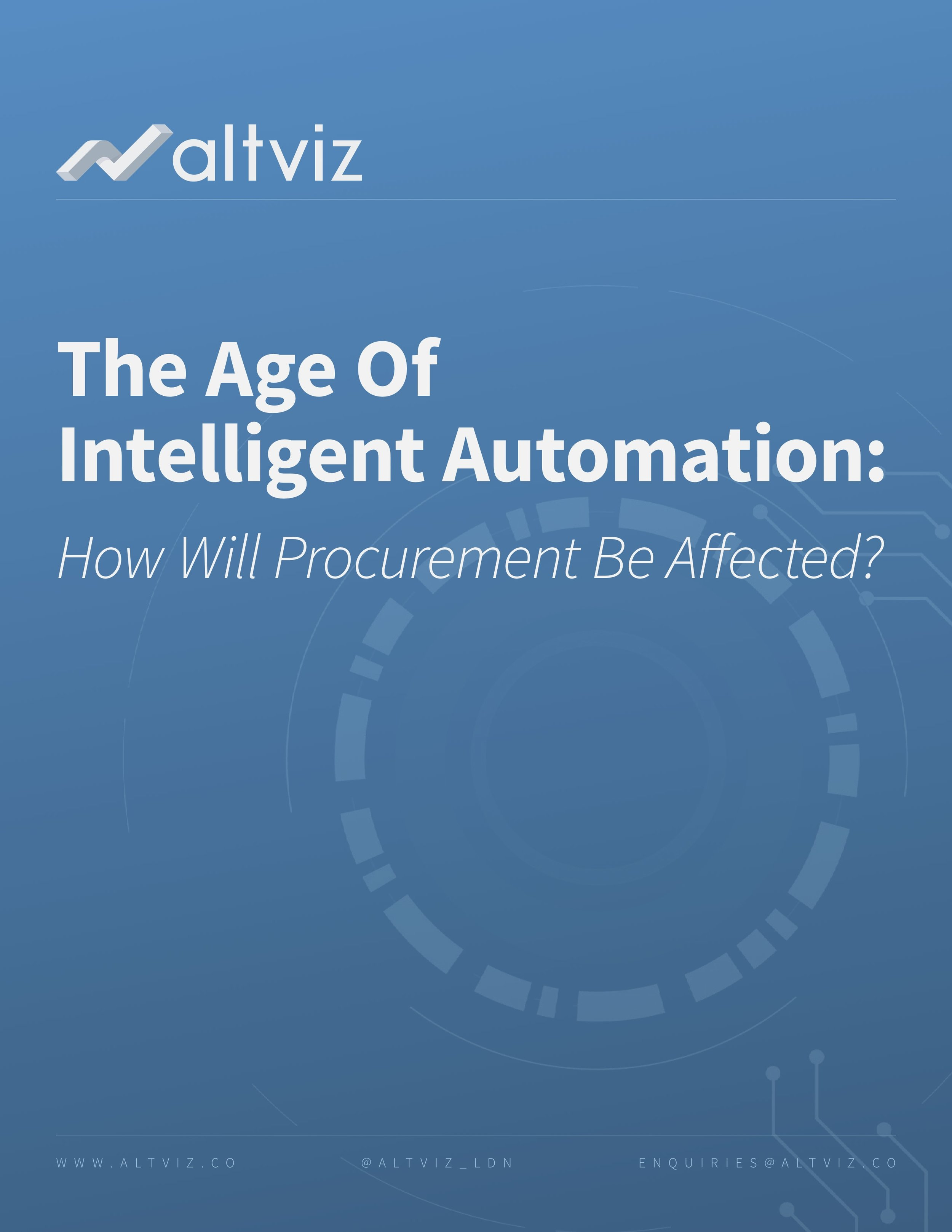 The Age Of Intelligent Automation - How Will Procurement Be Affected?