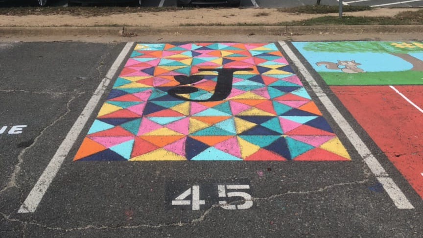 My friend's Senior parking spot (I helped design it!)
